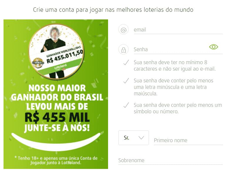 Aposta online na Lottoland