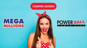 Prêmio de Jackpot Mega Millions e Powerball