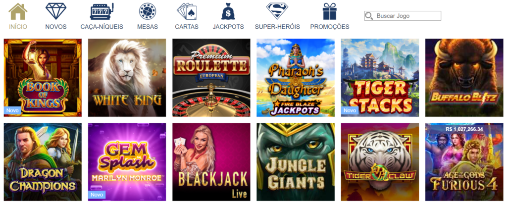 Jogos no Europa Casino